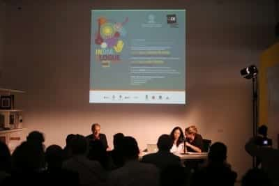1/9 - SUMMER MELA 2014 - Samita Arni and Raj Rewal's talk at MAXXI Museum of Rome (crédits : Mario D'Angelo)