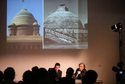 6/9 - SUMMER MELA 2014 - Samita Arni and Raj Rewal's talk at MAXXI Museum of Rome (crédits : Mario D'Angelo)
