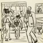 51/103 - Drawings from the tour round the world in 1936