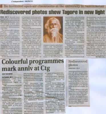 Rediscovered photos show Tagore in new light