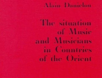 The situation of Music and Musicians in the countries of the Orient