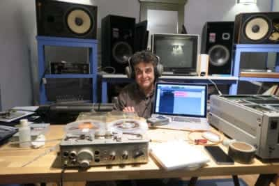 1/4 - Xavier Bellenger - In his studio in Montreuil, in full digitization of his analog tapes