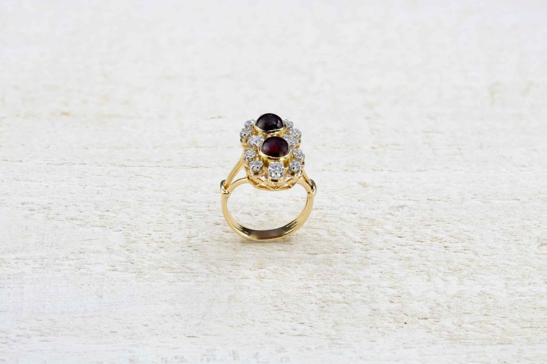 garnets and diamonds ring