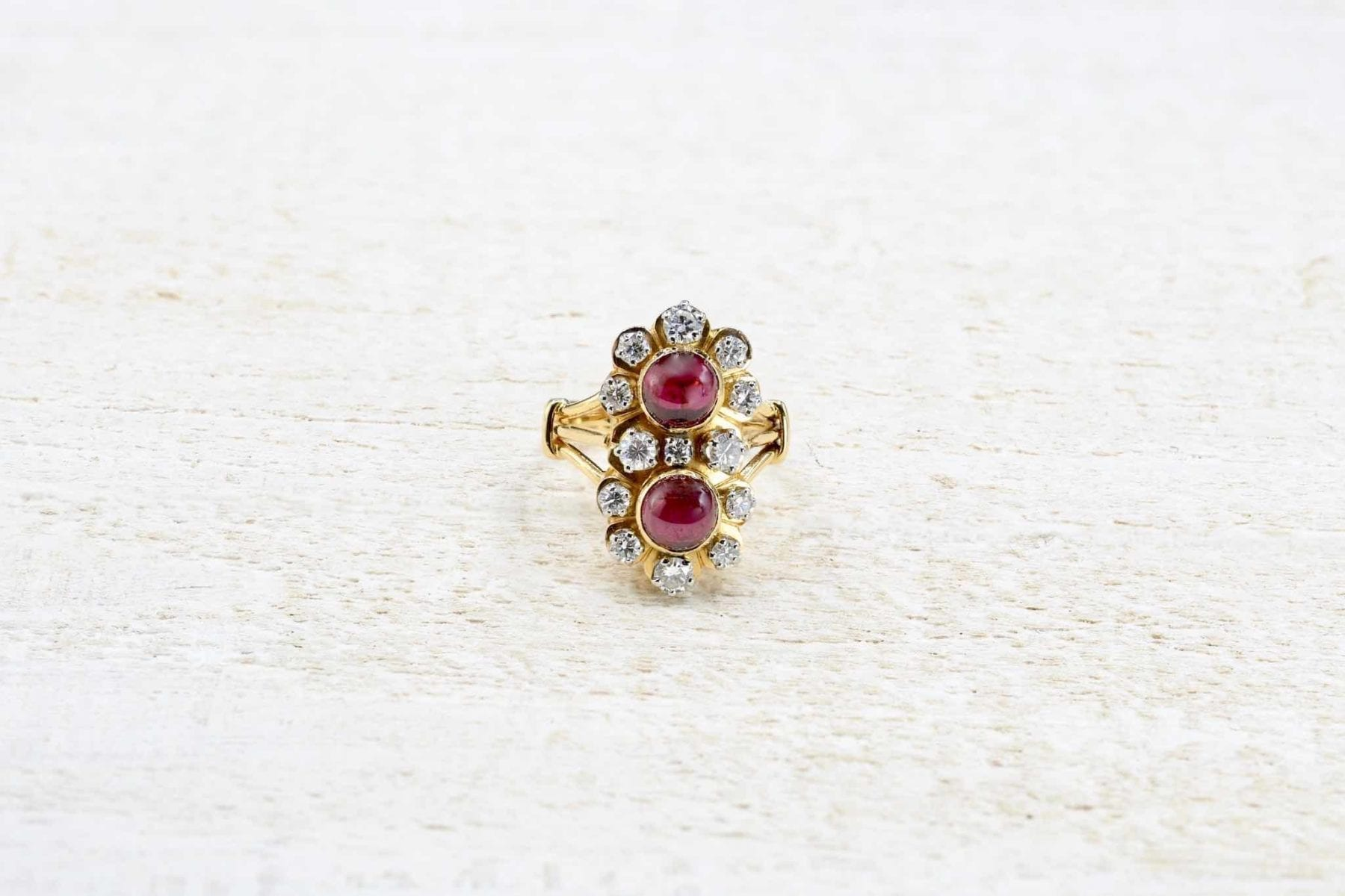vintage garnets and diamonds ring