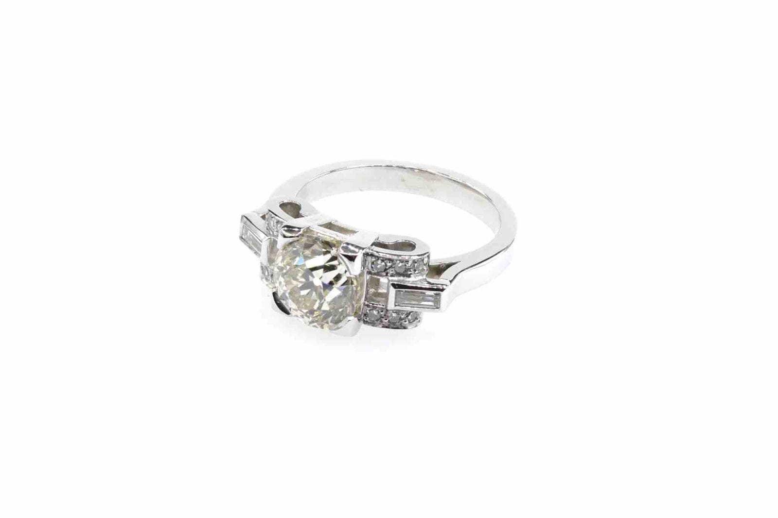 Bague diamants 2,42 carats