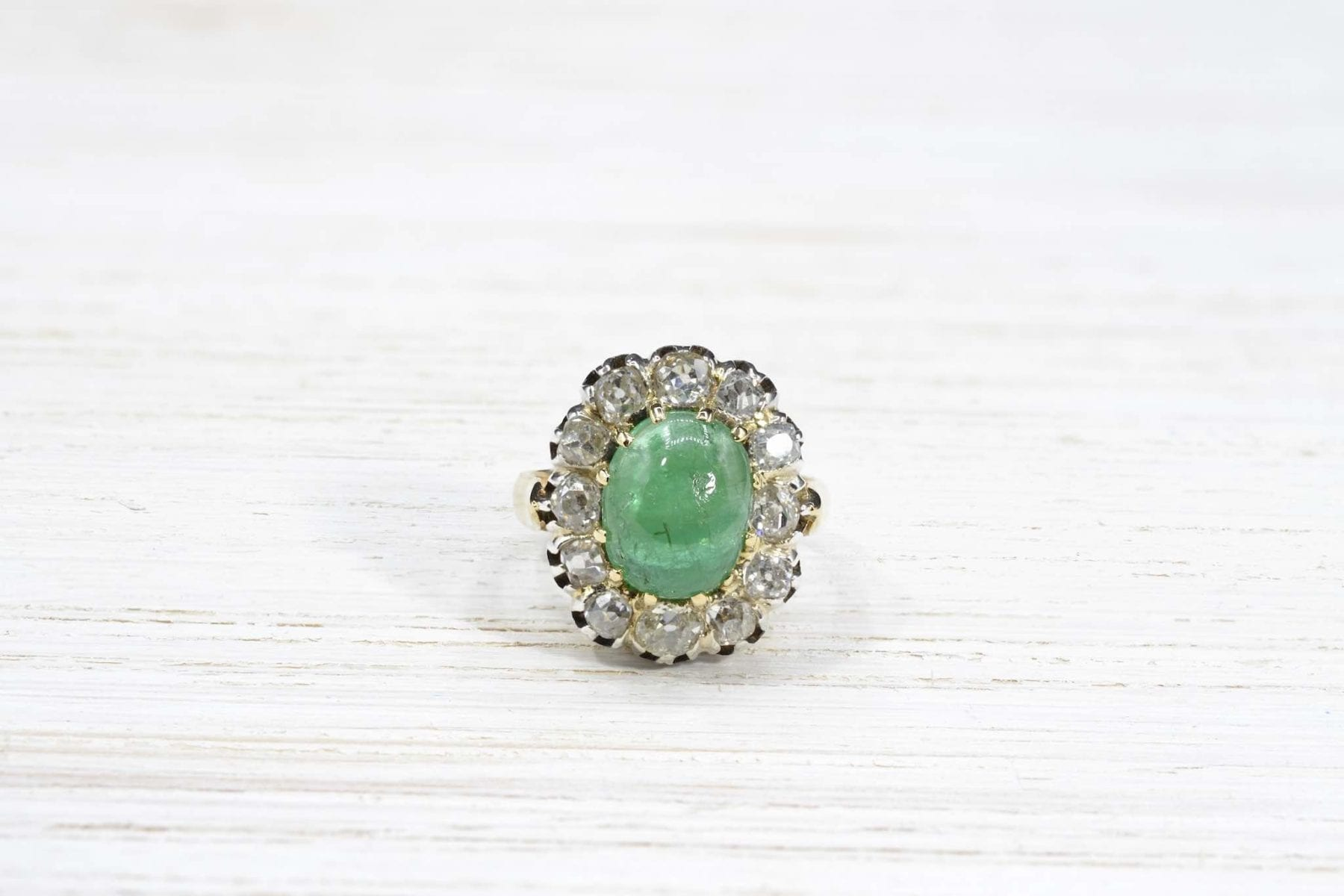 pompadour emerald ring