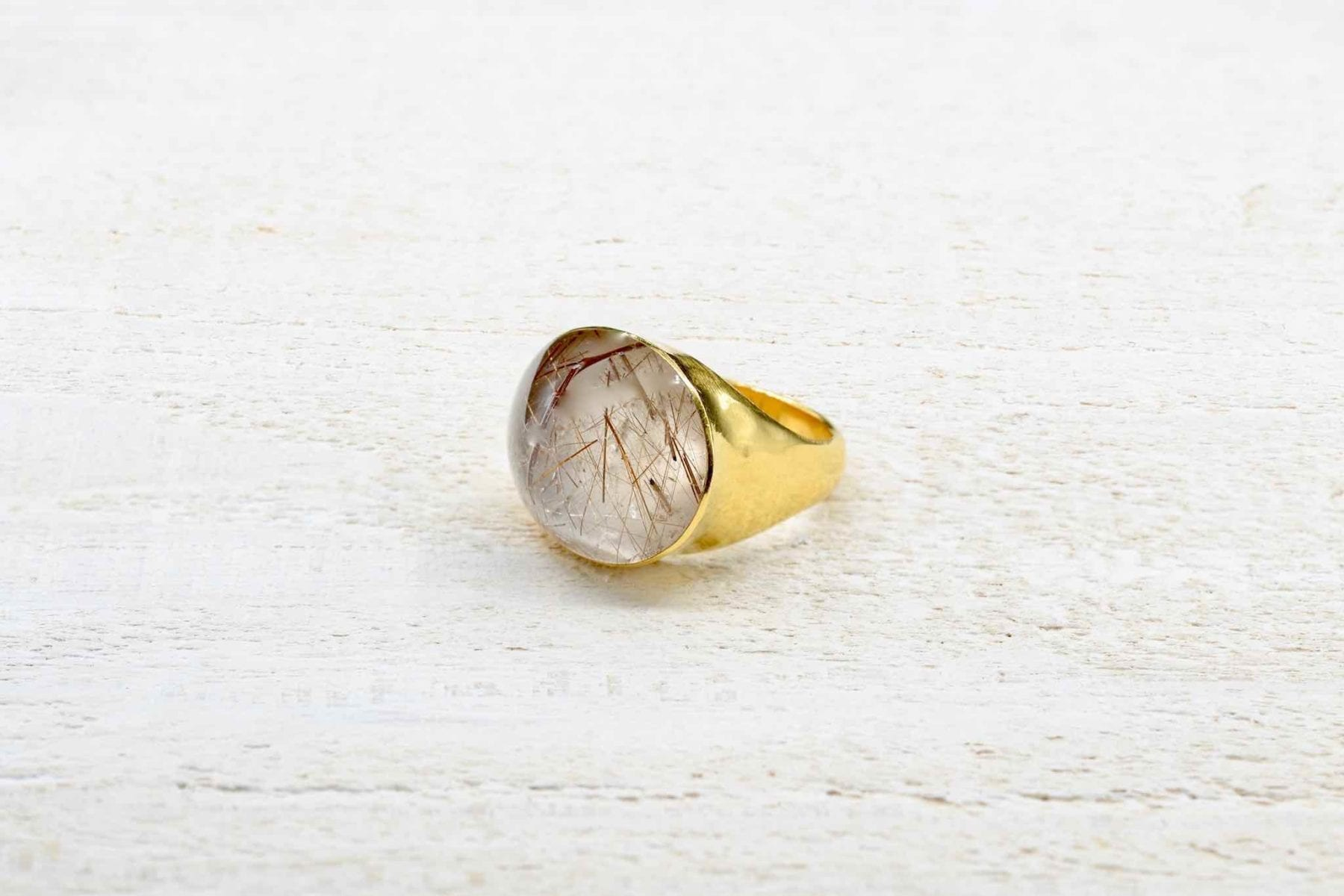 signed yellow gold ring