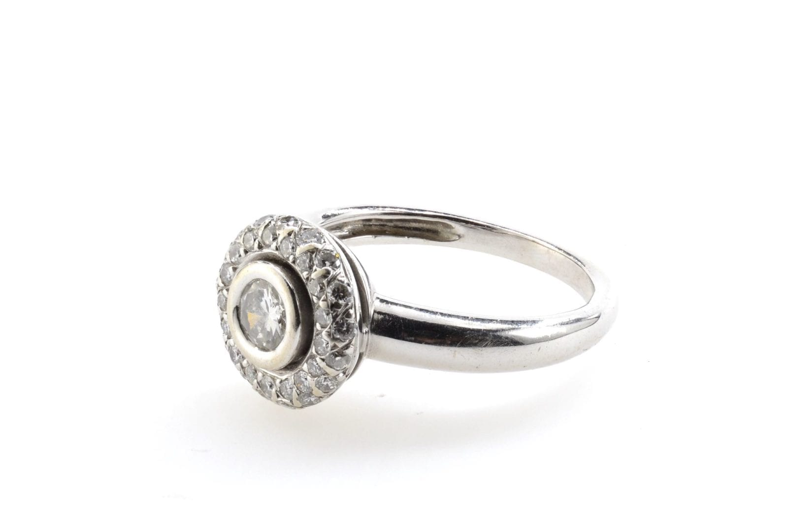 bague ronde diamants