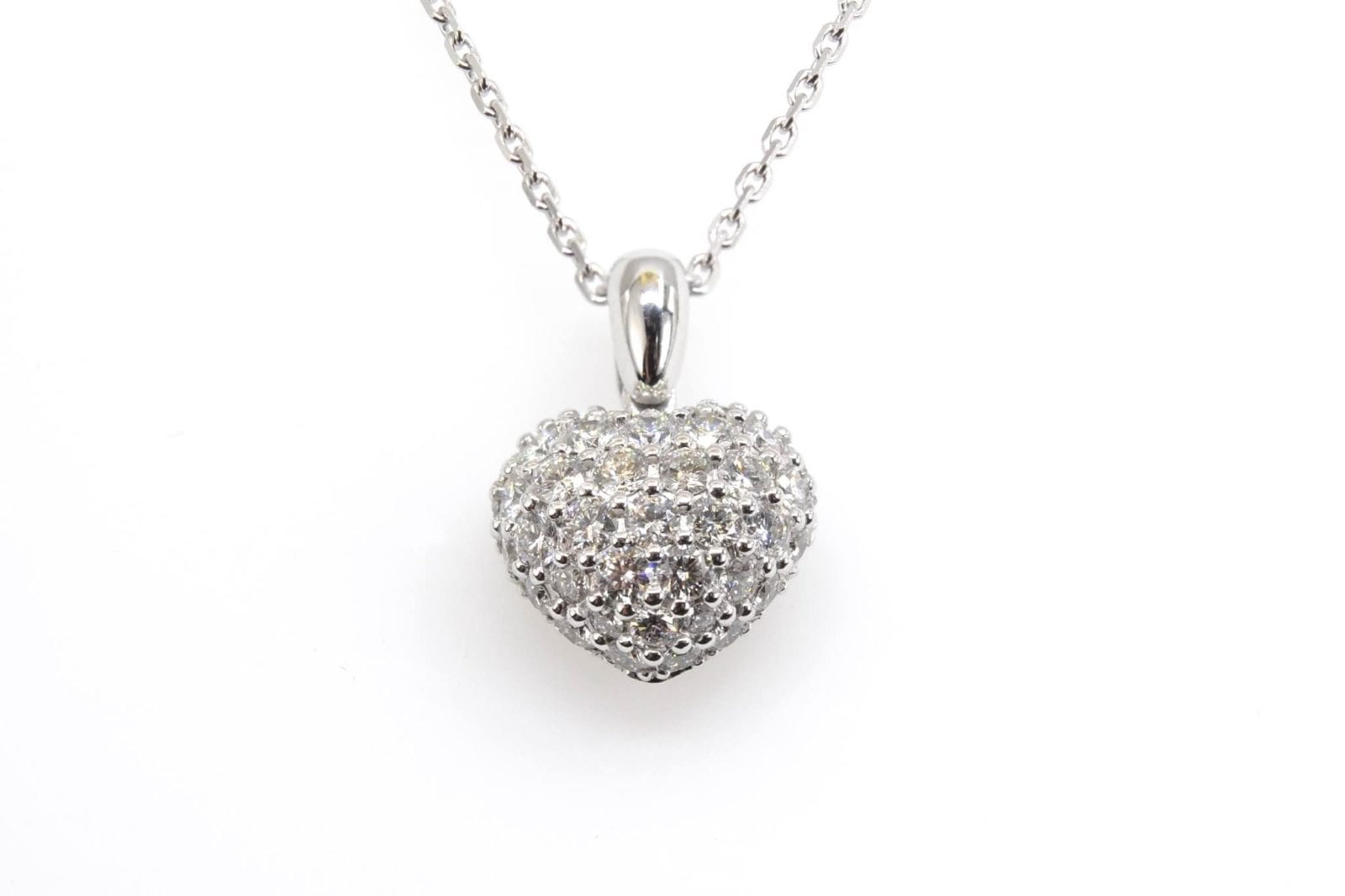 Pendentif coeur Chopard diamants en or blanc 18k