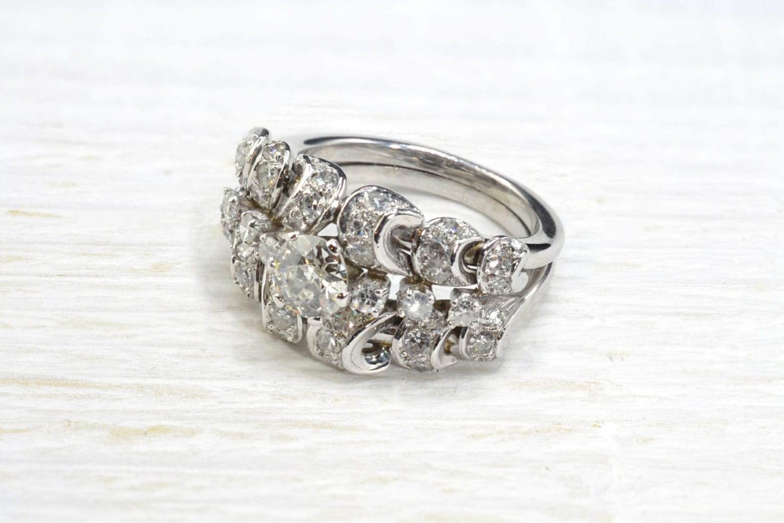 bague diamants vintage