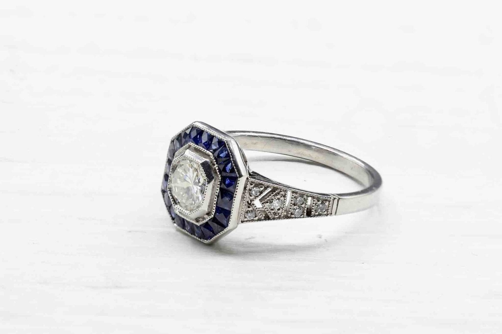 bague art deco saphirs diamant