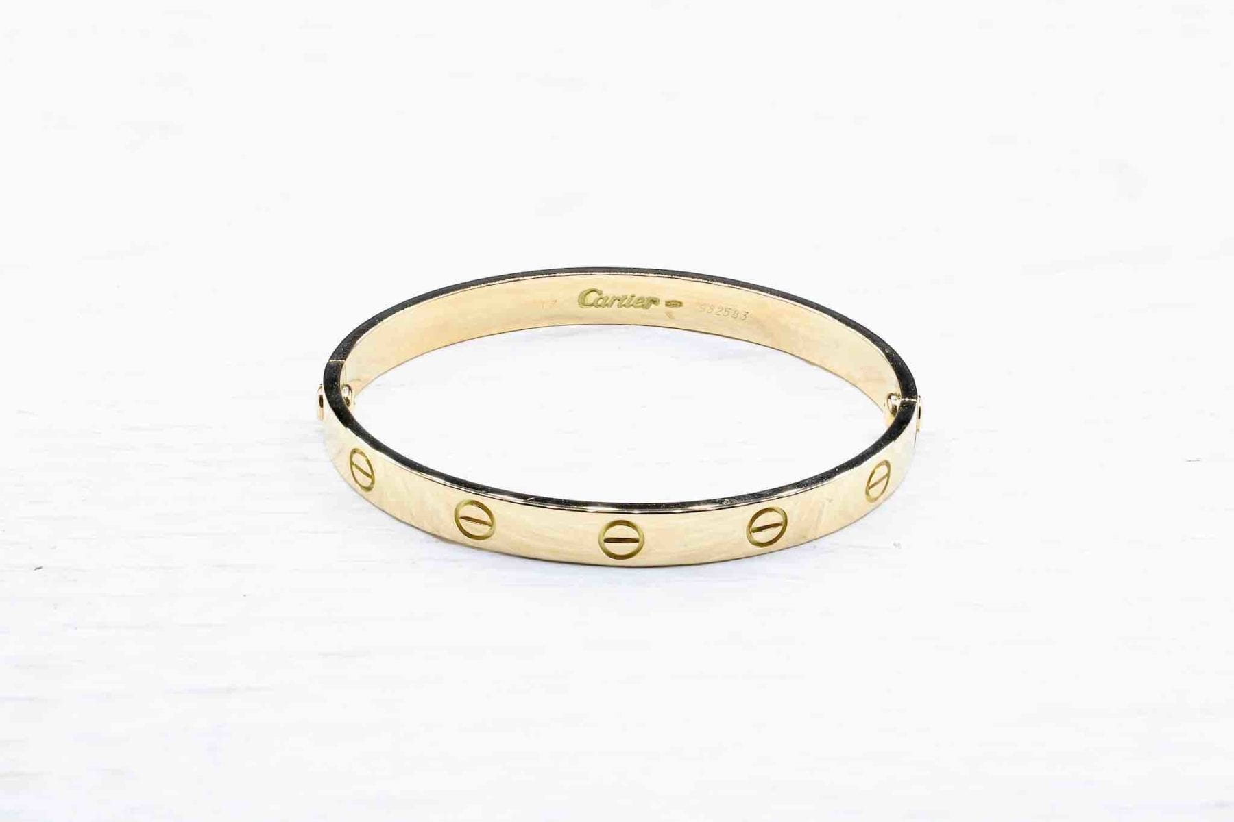 Bracelet Cartier Love en or jaune 18k