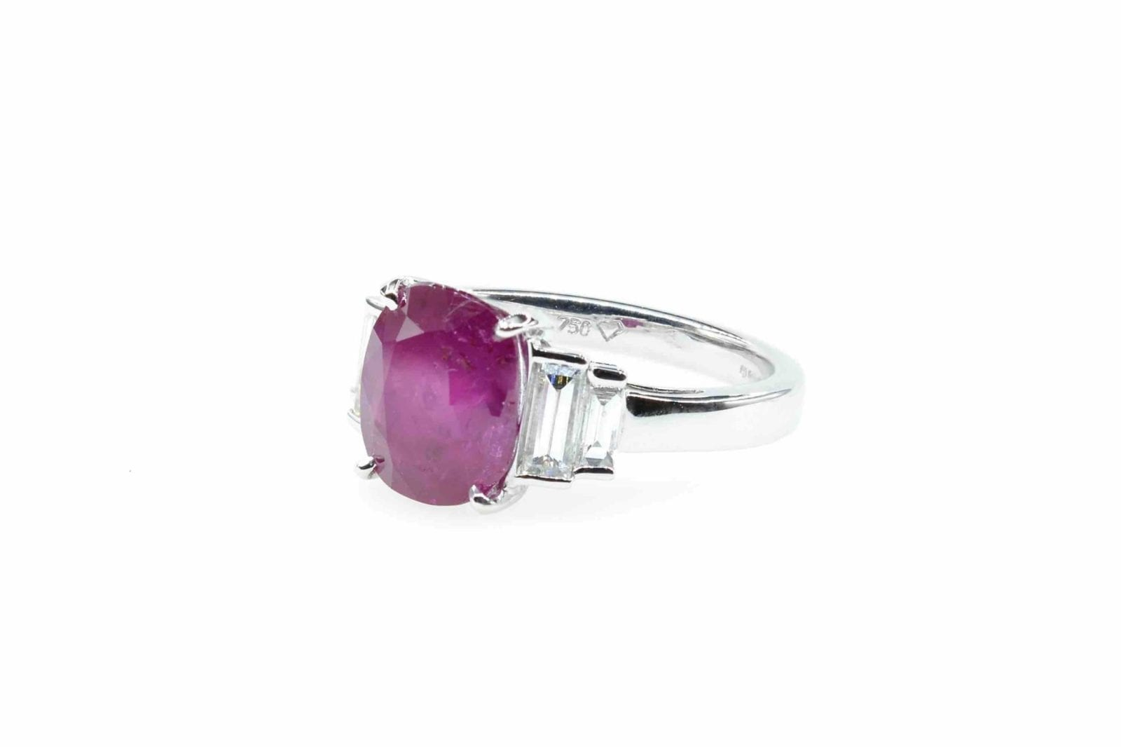 Bague rubis birman naturel