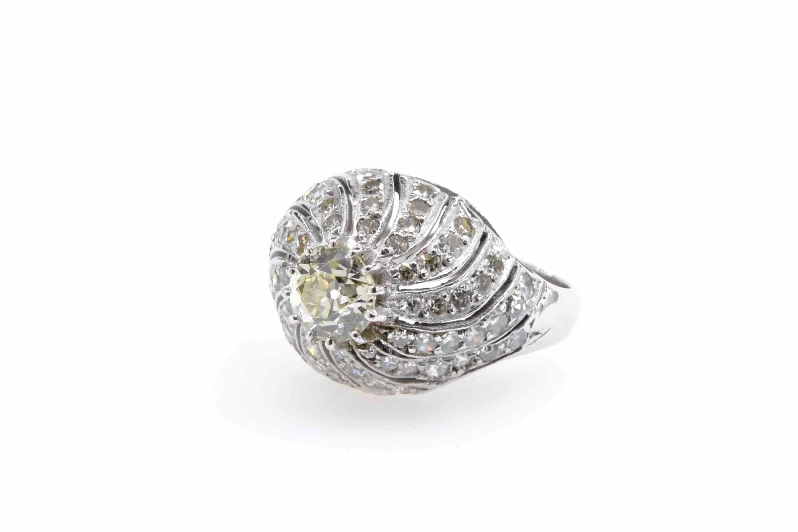 bague dome diamants