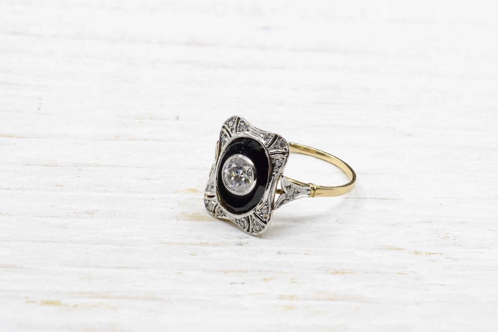 bague vintage onyx paris