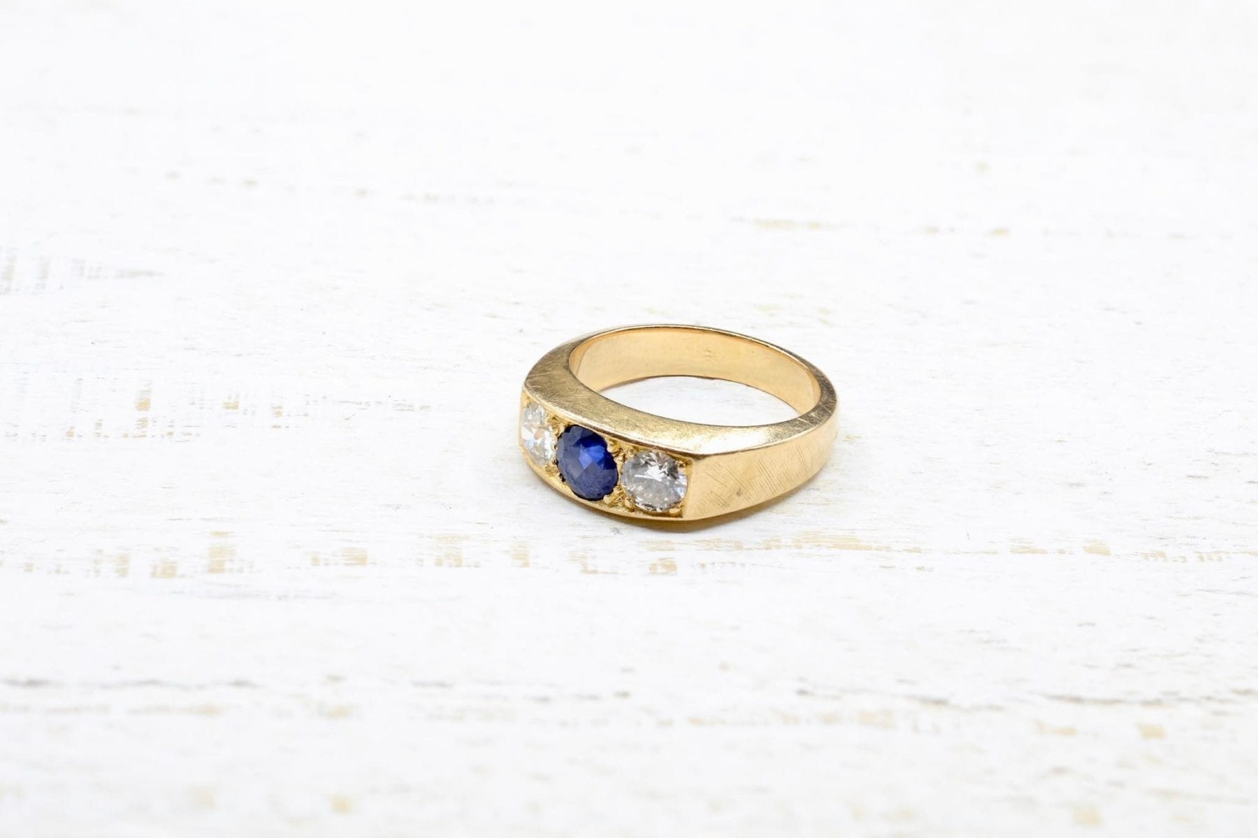 trilogy sapphire ring