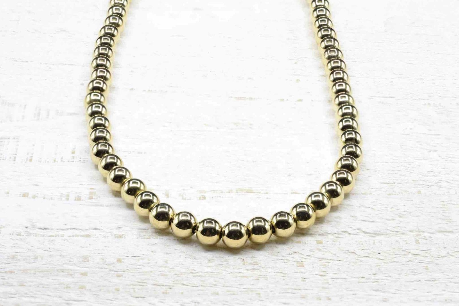 Collier perles d'or