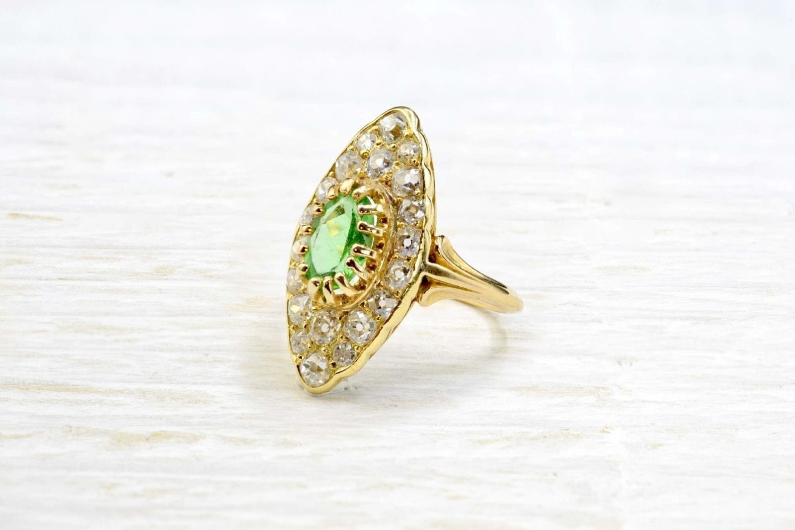 bague peridot marquise