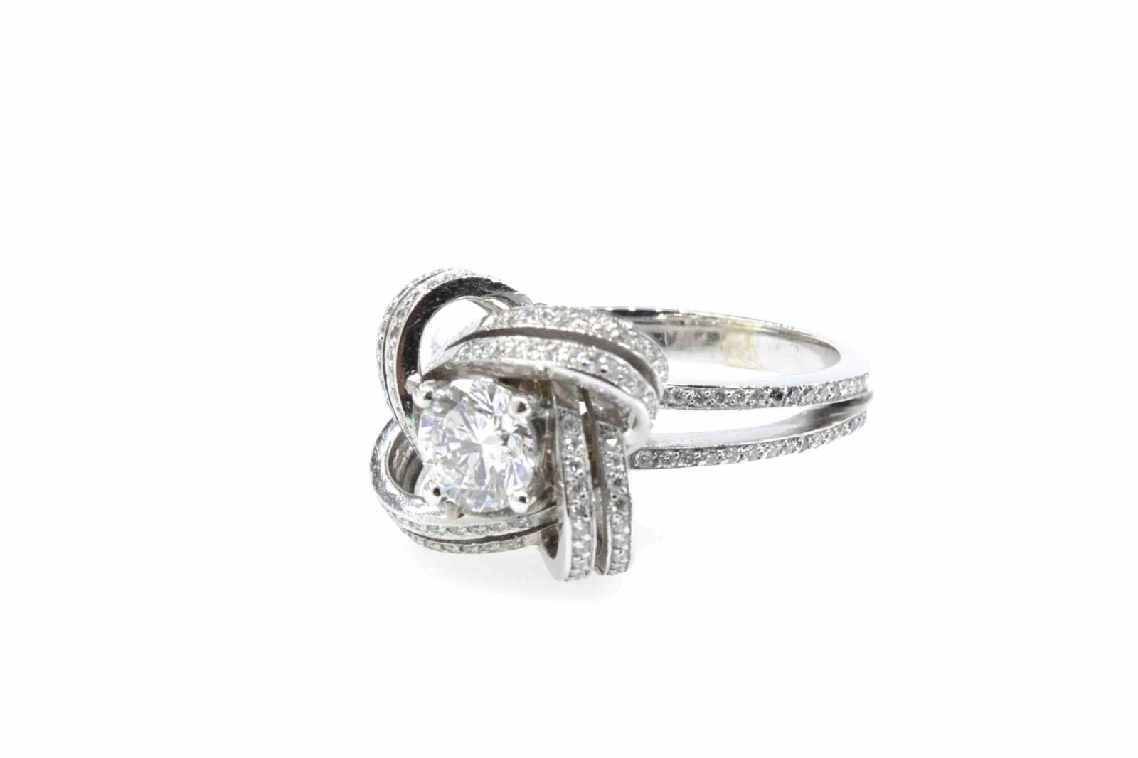Bague diamants en or blanc 18k
