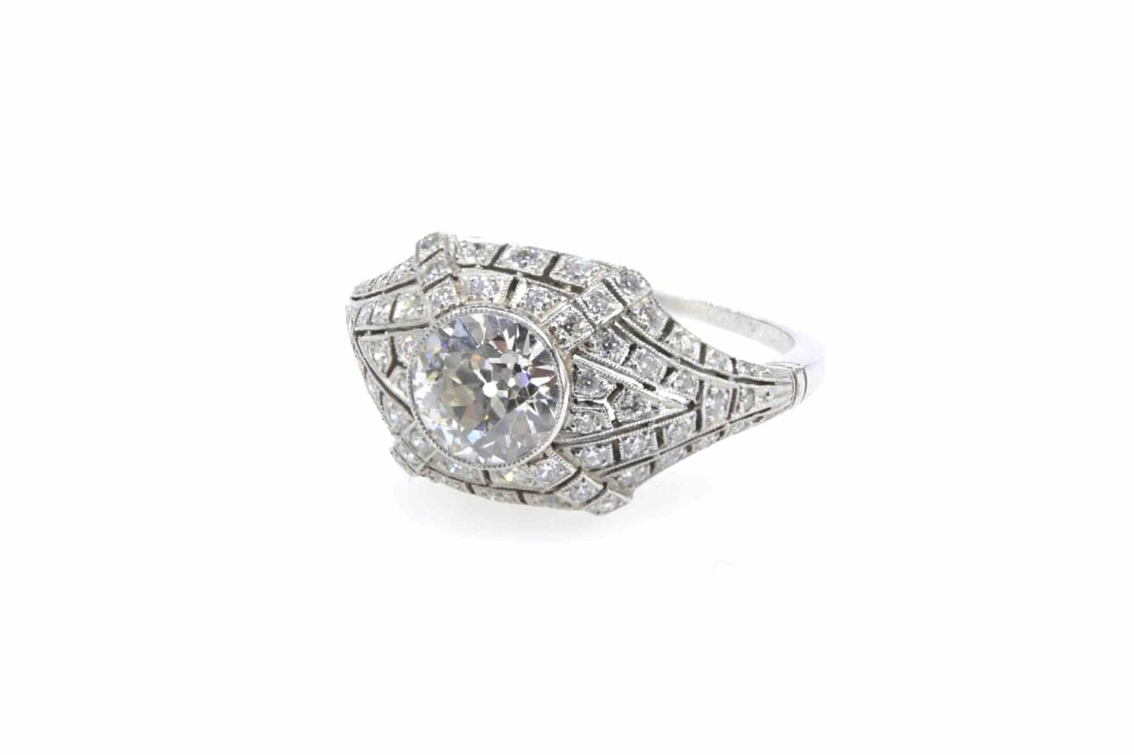 Bague diamants platine
